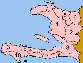 Departments in Haiti