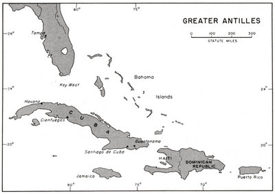 Blank Map Of Caribbean Islands